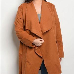 Jackets & Blazers - PREORDER PLUS SIZE Camel Jacket
